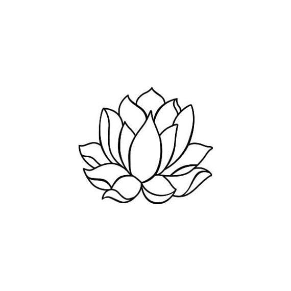 Tattify Simple Lotus Flower Temporary Tattoo Two Weeks Lotus Set Of 2
