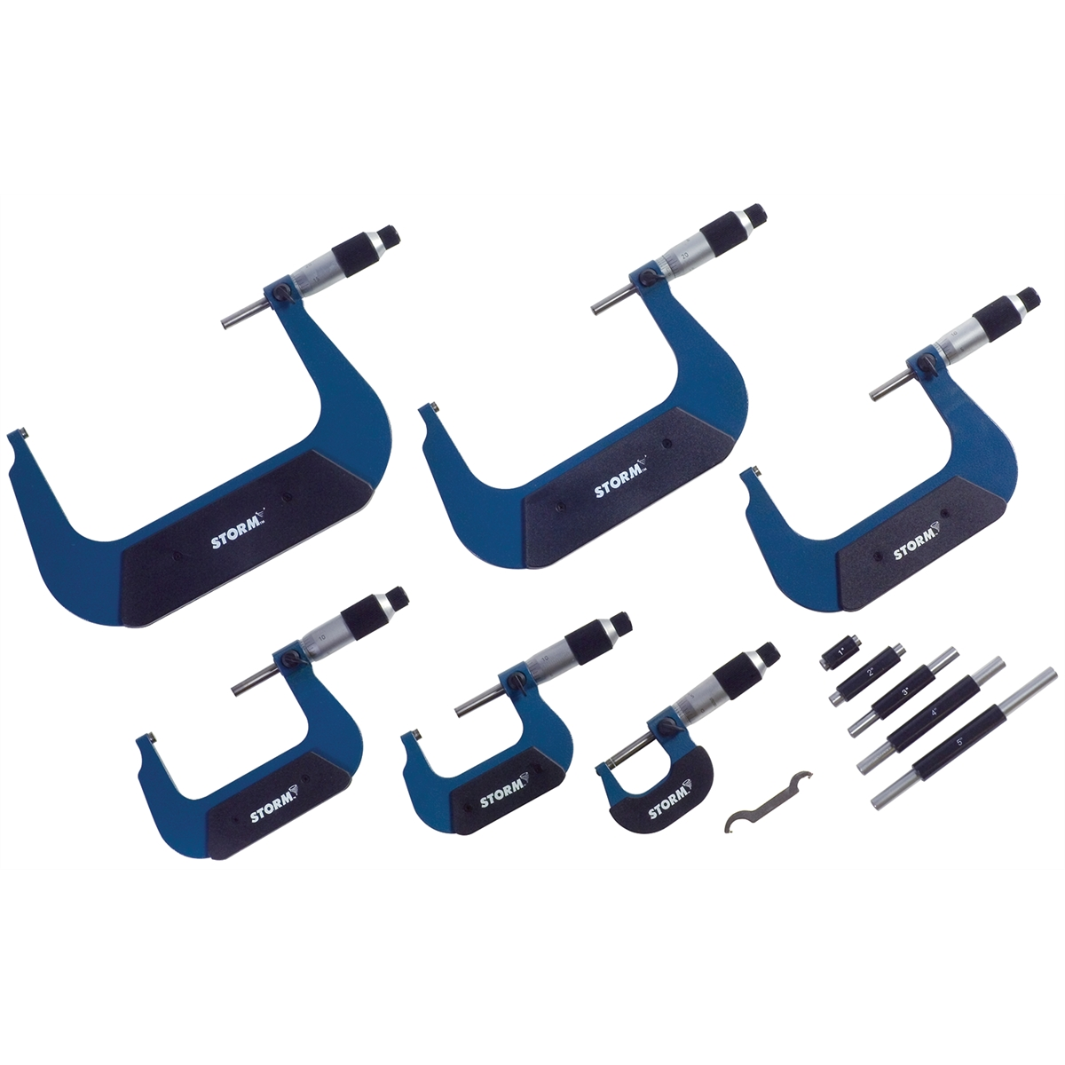 6Pc. Import Outside Micrometer Set