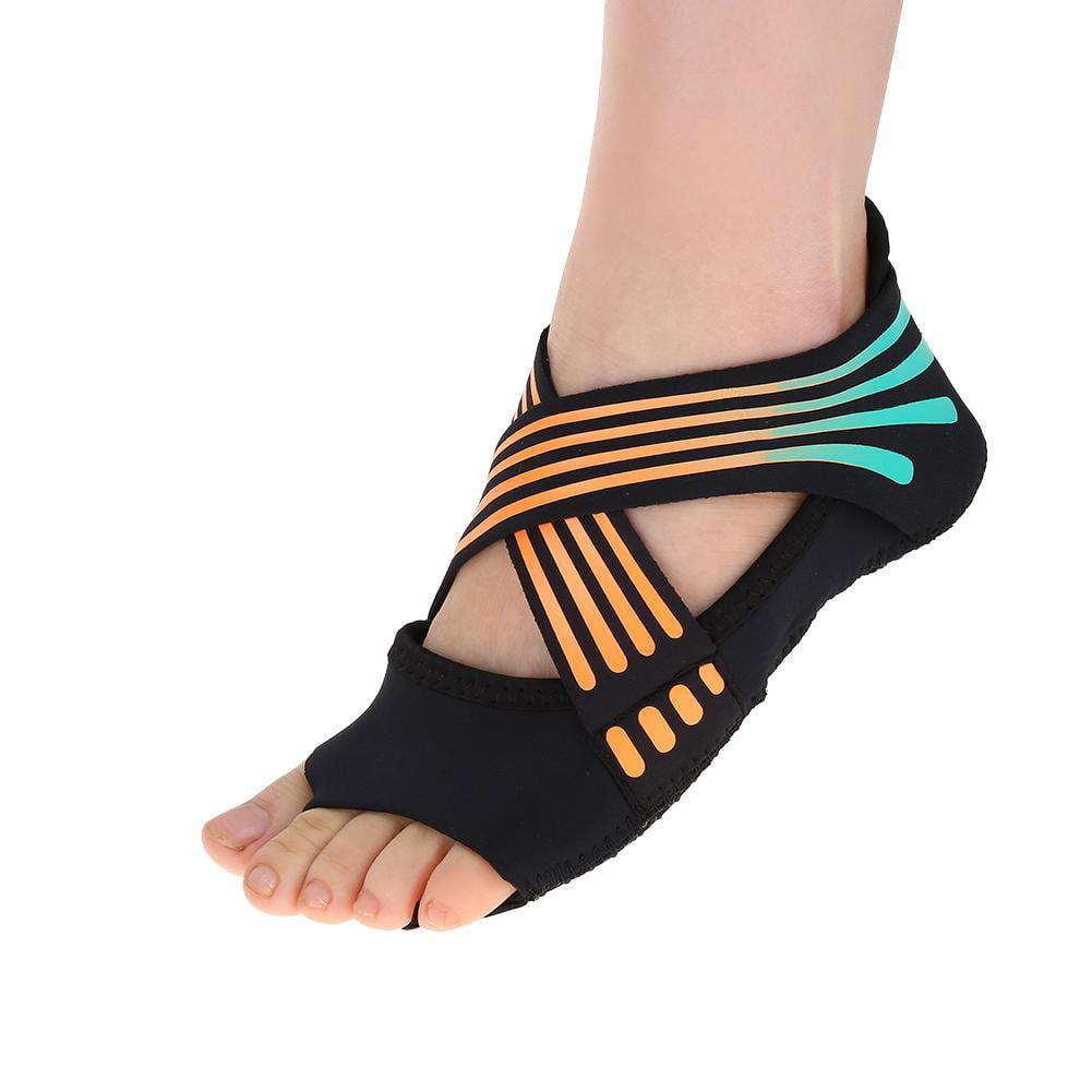 Lv. life Women Yoga Non-slip Pilates Barre Soft Wrap Dance Training Shoes Orange, Barre Training Shoes, Soft Wrap Shoes