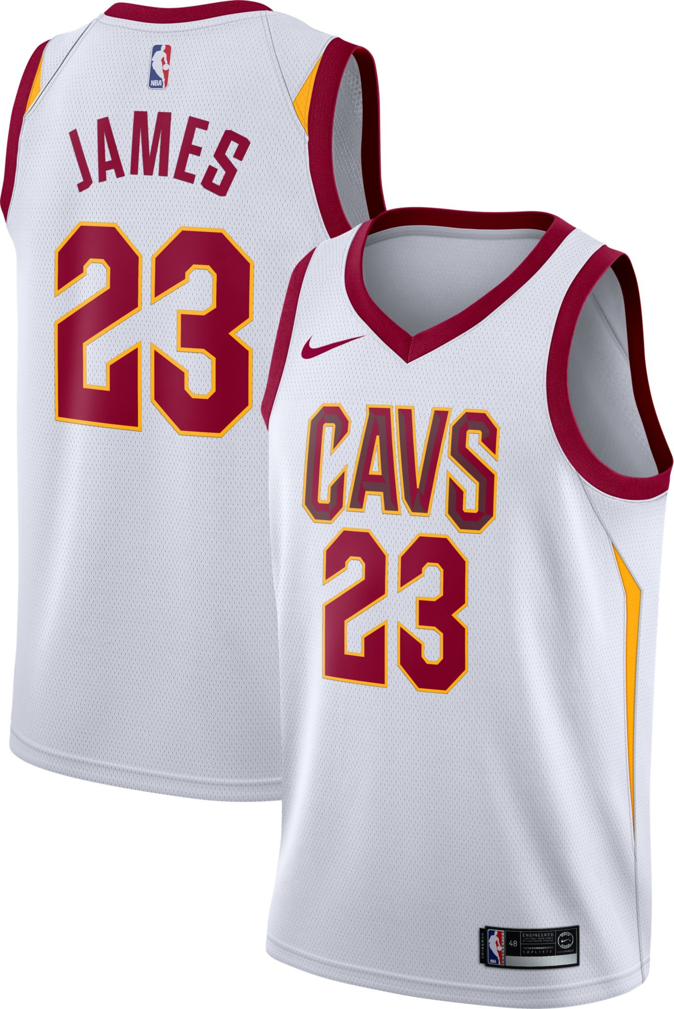 ... norway nike mens cleveland cavaliers lebron james 23 white dri fit  swingman jersey walmart a80b5 09d3f 6ad287e8a