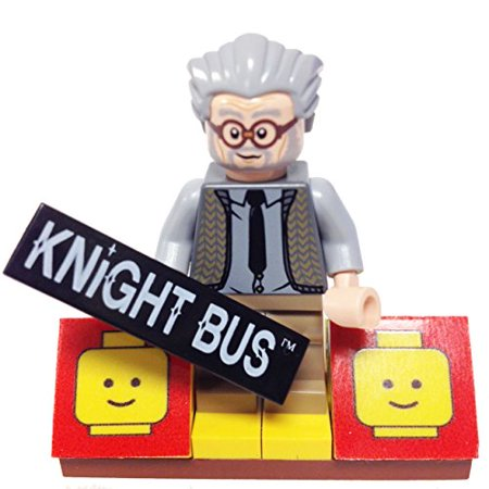 Minifigurepacks  Lego Harry Potter Bundle   1  Knight Bus   Ernie Prang    1  Figure Display Base    1  Figure Accessory    Knight Bus Placard