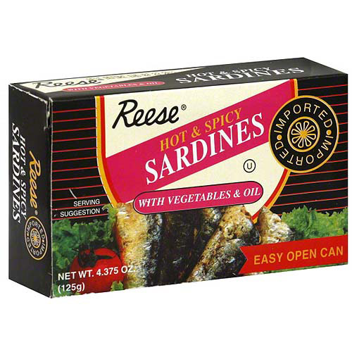Reese Hot Spicy Sardines, 4.37 oz (Pack of 10)