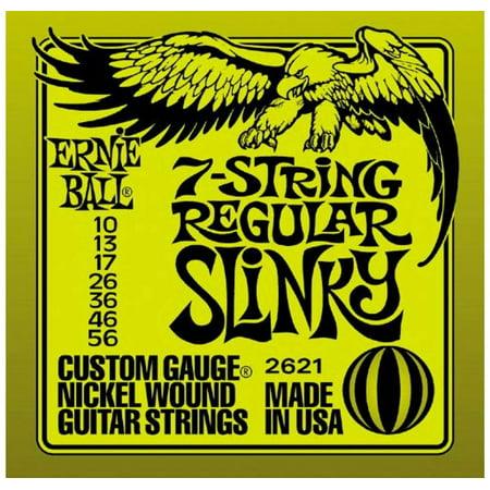 - Ernie Ball 2621 7-String Electric Guitar Regular Slinky Nickel Wound (10 -56)