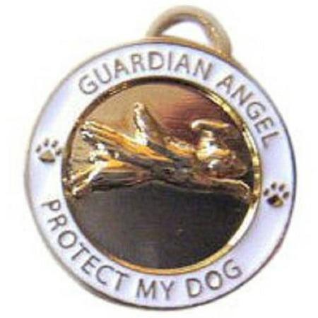 083070 Guardian Angel Dog Charm, Gold](Angel Dog)