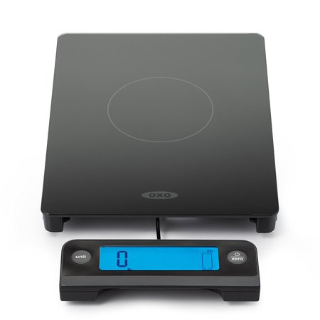 OXO Good Grips Digital Glass Food Scale with Pull Out Display, 11 Pound Black (Kitchen Timer Digital Oxo)