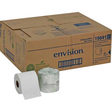 Georgia-Pacific, GPC1984101, Envision 1-Ply Bath Tissue Rolls, 40 / Carton, White