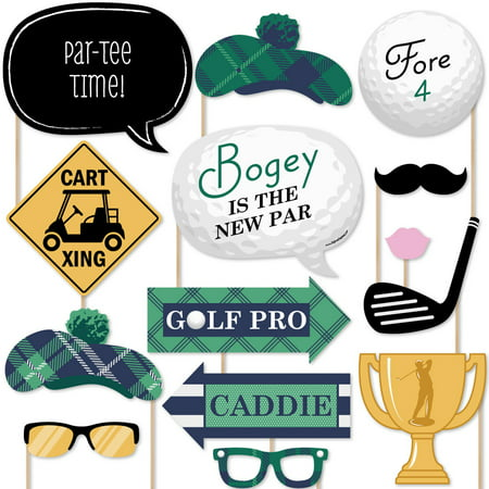 Golf Theme Party (Par-Tee Time - Golf - Photo Booth Props Kit - 20)