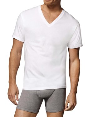 Hanes Men's Comfortsoft Tagless V-Neck T-Shirts, 10 Pack
