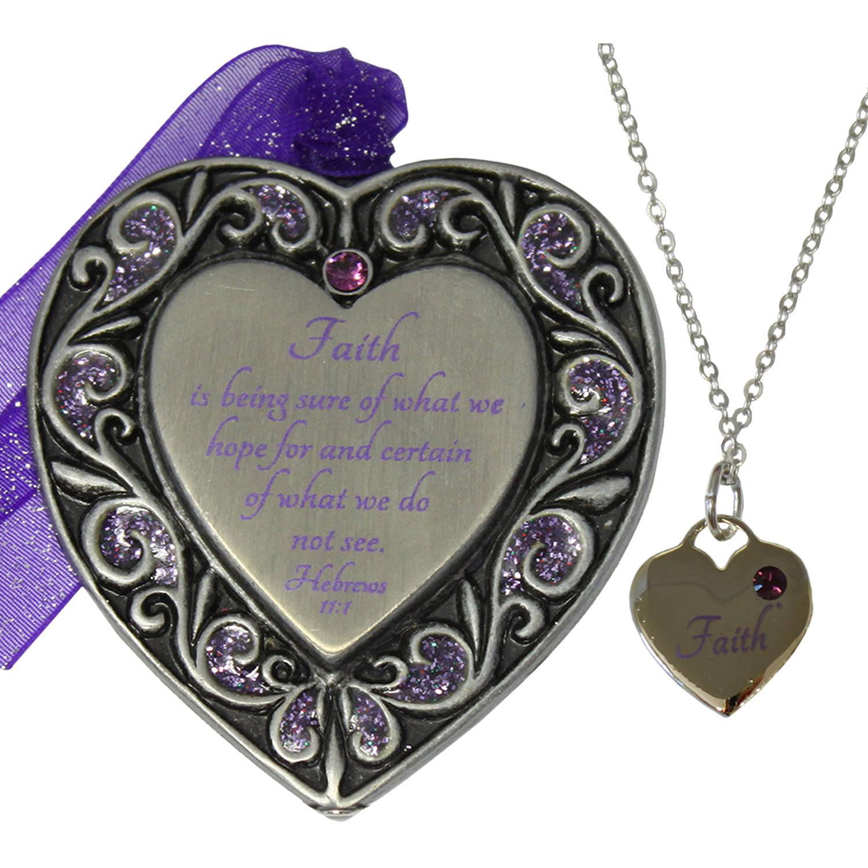 Gloria Duchin Faith Ornament and Necklace Set