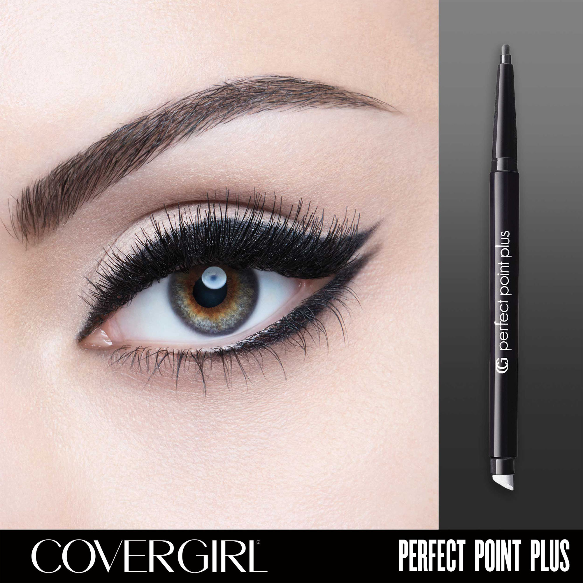 COVERGIRL Perfect Point PLUS Eyeliner, Black Onyx, .008 oz