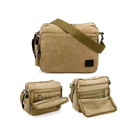 7e90f58303d8 Men s Vintage Canvas Crossbody Bag Shoulder Casual Handbag School Messenger  Bags Satchel - Walmart.com