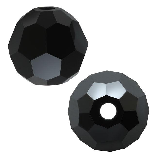 Swarovski Crystal, #5000 Round Beads 6mm, 10 Pieces, Jet Hematite