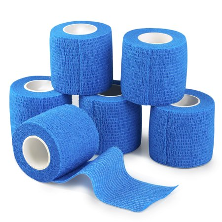 Sonew 6 Pcs Self Adhesive Sports Wrap Bandage Elastic Adherent Tape First Aid - Elastic Adhesive
