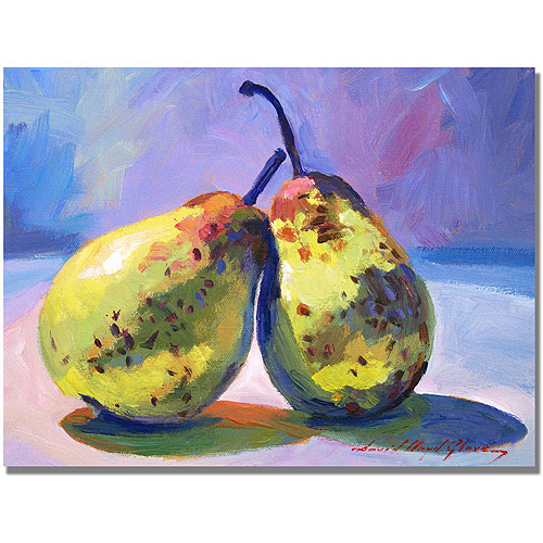"Trademark Fine Art ""A Pair of Pears"" Canvas Wall Art by David Lloyd Glover"