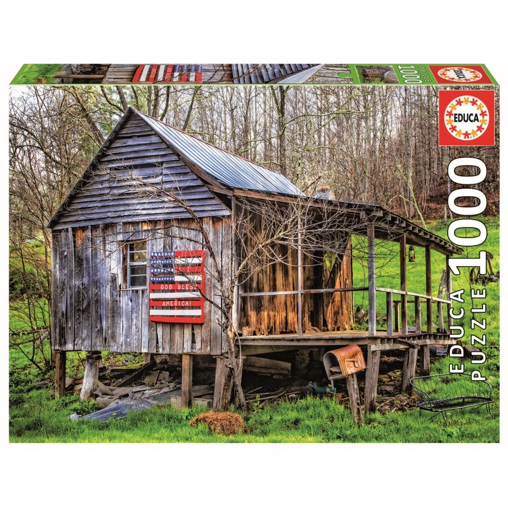 Made in the USA 1000 Piece Puzzle,  Cottage Living by John N. Hanson