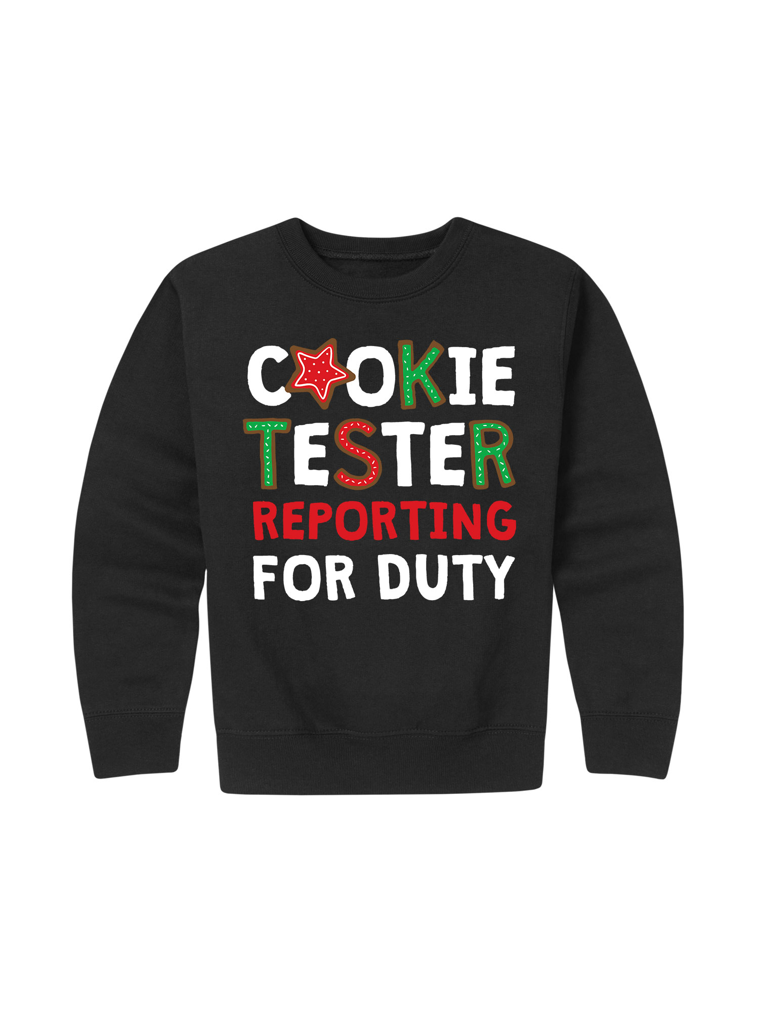 Cookie Tester Reporting For Duty  - Toddler Crew Fleece