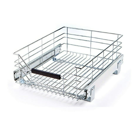 "Pull-Out Sliding Steel Wire Cabinet Drawer, 17.75""D x 14""W by Seville Classics"