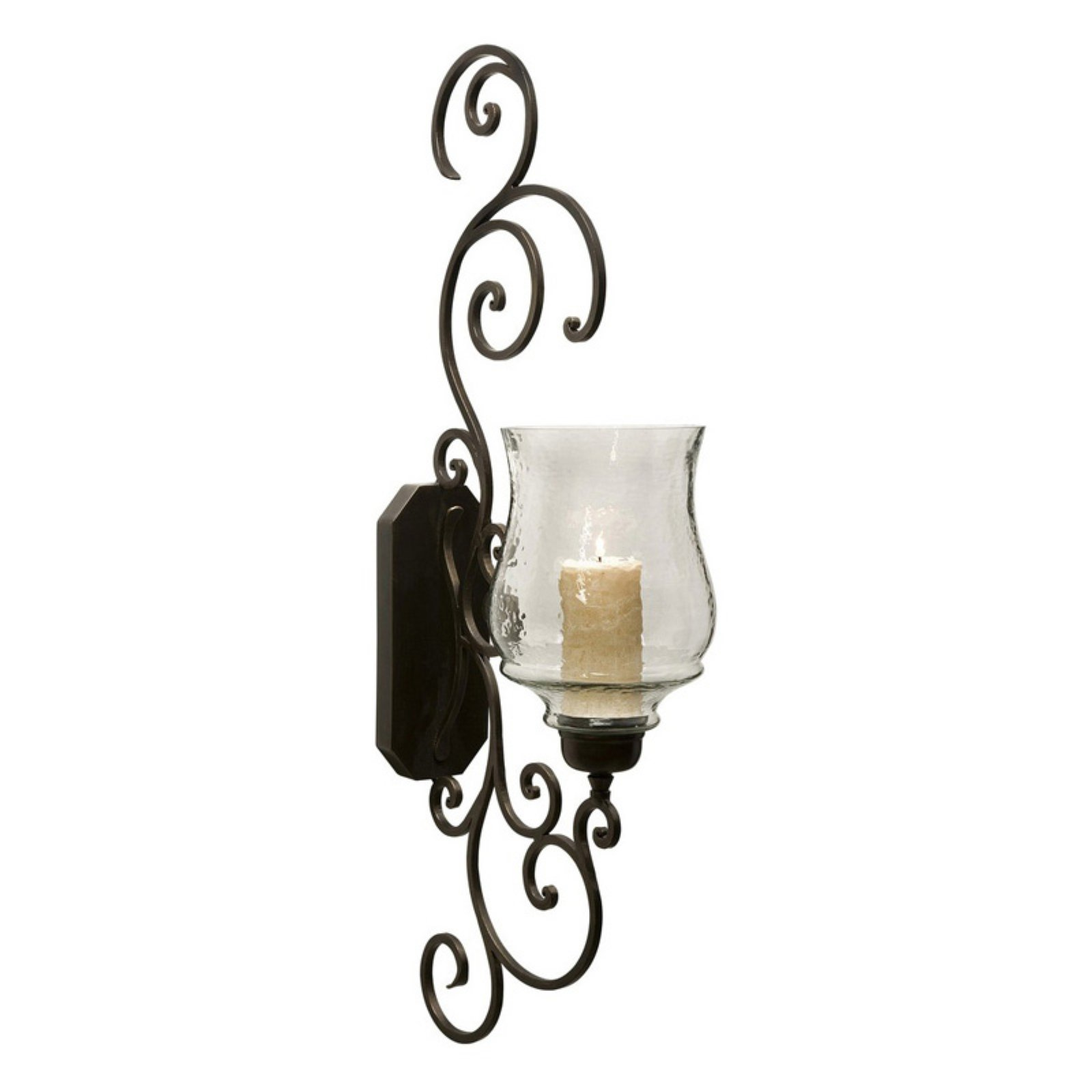 Elegant Angelina Grand Scrollwork Candle Sconce by Benzara