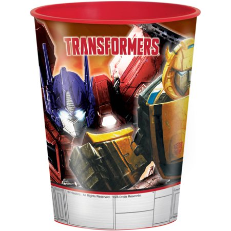 Unique Industries 16oz Transformers Plastic Stadium Cup, 1ct