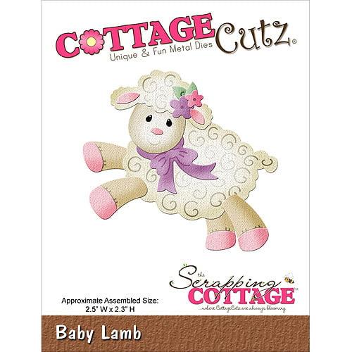 CottageCutz Die 2.5 Inch X 2.3 Inch-Baby Lamb