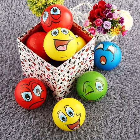 Homemade Stress Ball (12PCS Emoji Stress Ball Facial Expression Squishy Stress Relief Sponge Foam Balls Hand Squeeze)