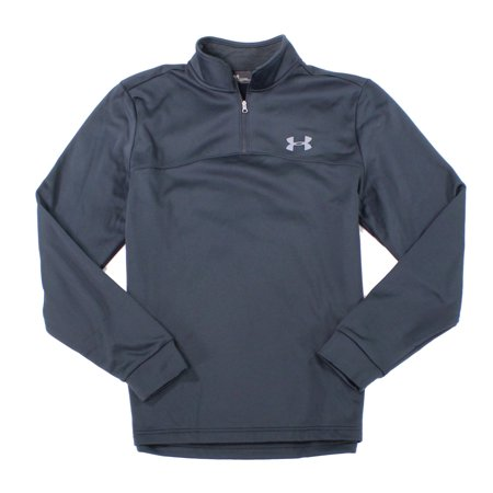 Under Armour NEW Black Mens Size Small S Mock-Neck Fleece Lined Jacket