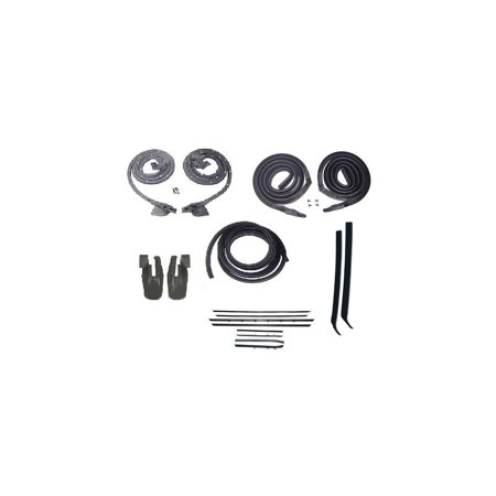Eckler's Premier  Products 33-181728 Camaro Coupe Body Weatherstrip Kit, With Reproduction Window Felt, For Cars With Deluxe Interior & Rally Sport (RS) Or W (Gbody Interior)