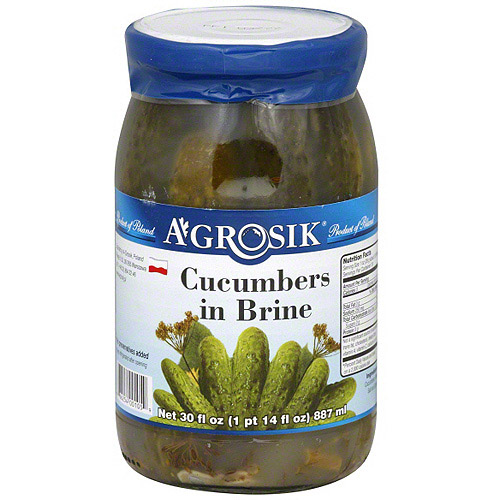 Image of Agrosik Cucumbers In Brine, 30 oz (Pack of 6)