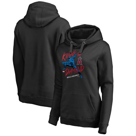 - Los Angeles Angels Fanatics Branded Women's MLB Marvel Black Panther King of the Diamond Pullover Hoodie - Black