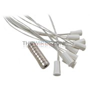 """10 pk Recessed White Door Window Security Alarm Switch Reed Contact Magnet 3/8"""""""