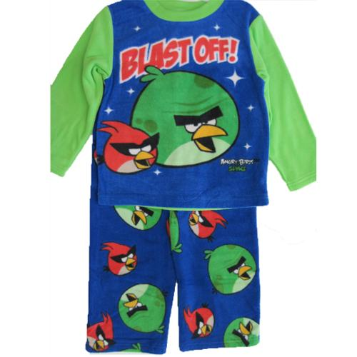 Angry Birds Boys Royal Blue Character Printed 2 Pc Pajama Set 8-10