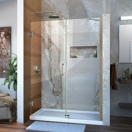 DreamLine Unidoor 48 49 in W x 72 in H Frameless Hinged Shower Door wi