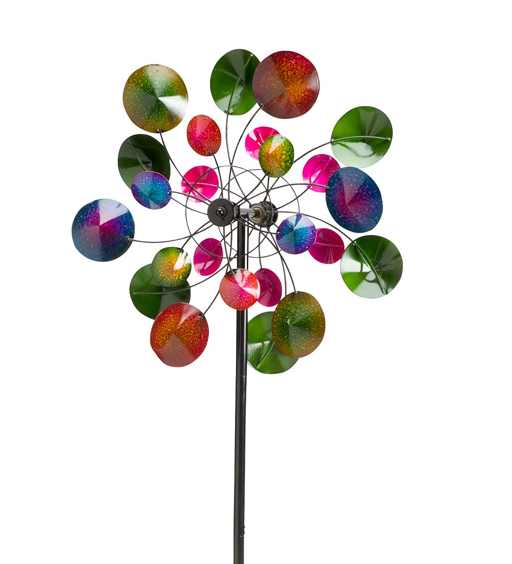 Kaleidoscope Metal Wind Spinner for Gardens by Problem Solvers