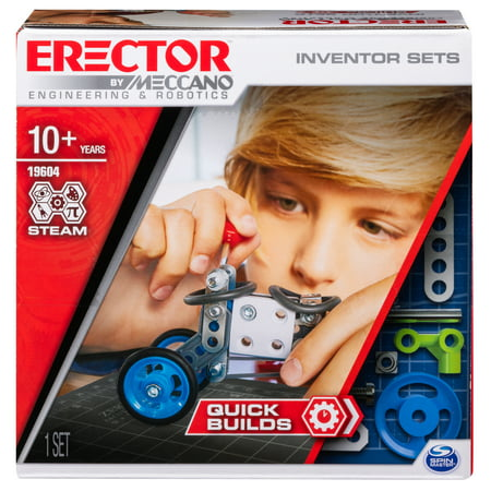 - Erector by Meccano, Set 1, Quick Builds, S.T.E.A.M. Building Kit with Real Tools, for Ages 8 and Up