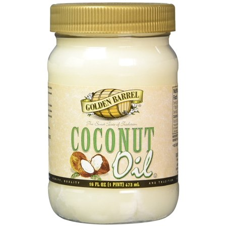 Golden Barrel Coconut Oil, 16 Ounce