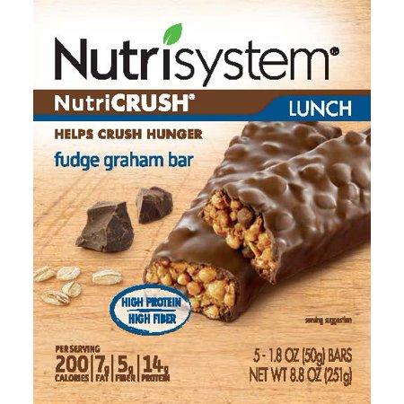 Nutrisystem Nutricrush Fudge Graham Bars  1 8 Oz  5 Count