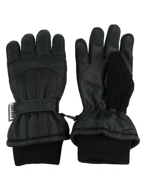 NICE CAPS Womens Ladies Adults Cold Weather Thinsulate Waterproof Ridges Winter Ski Snow Gloves