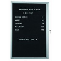 AARCO Products EDC2418 Economical Enclosed Letter Board Cabinet