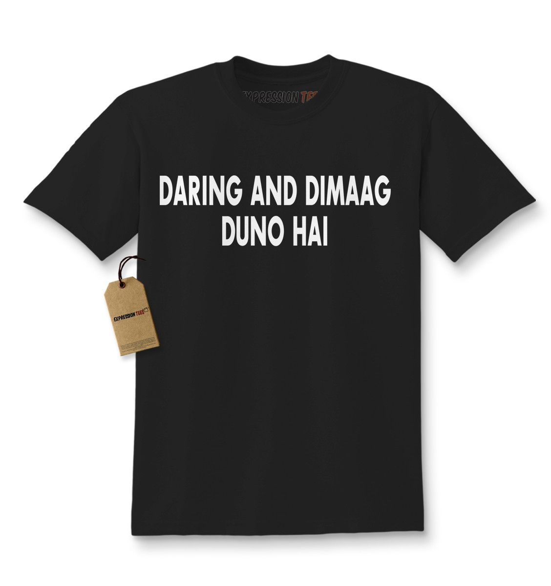 Expression Tees Daring And Dimaag Duno Hai SRK Kids T-shirt
