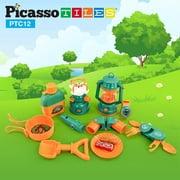 PicassoTiles PTC12 12 Piece Pretend Play Camping Set For Kids