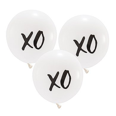 17 Large White Round Wedding Balloons Xo Walmartcom