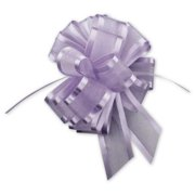 Deluxe Small Business Sales PR815-11 6 in. Sheer Satin Edge Pull Bows, Lavender