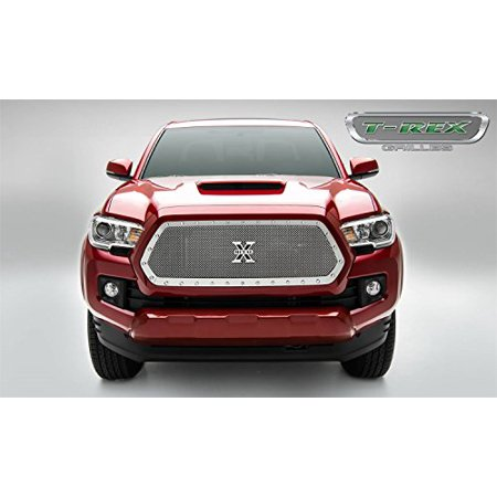 T-Rex Grilles 6719410 X-Metal Series Polished Stainless Steel Main Grille Insert with Small Mesh for Toyota Tacoma