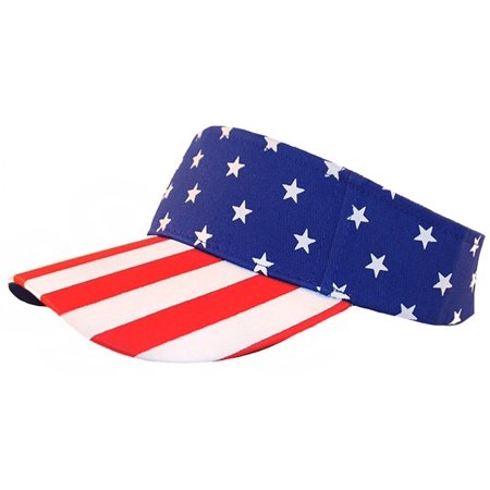 073746c60d8 Enimay Sports Tennis Golf Sun Visor Hats Adjustable Velcro Plain Bright  Colors USA Flag - Walmart.com