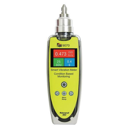 TEST PRODUCTS INTL. 9070 Vibration Meter,IP67 Rated G0185879