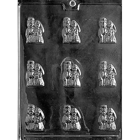 Bride and Groom Mints Chocolate Mold - W003 - Includes Melting & Chocolate Molding Instructions