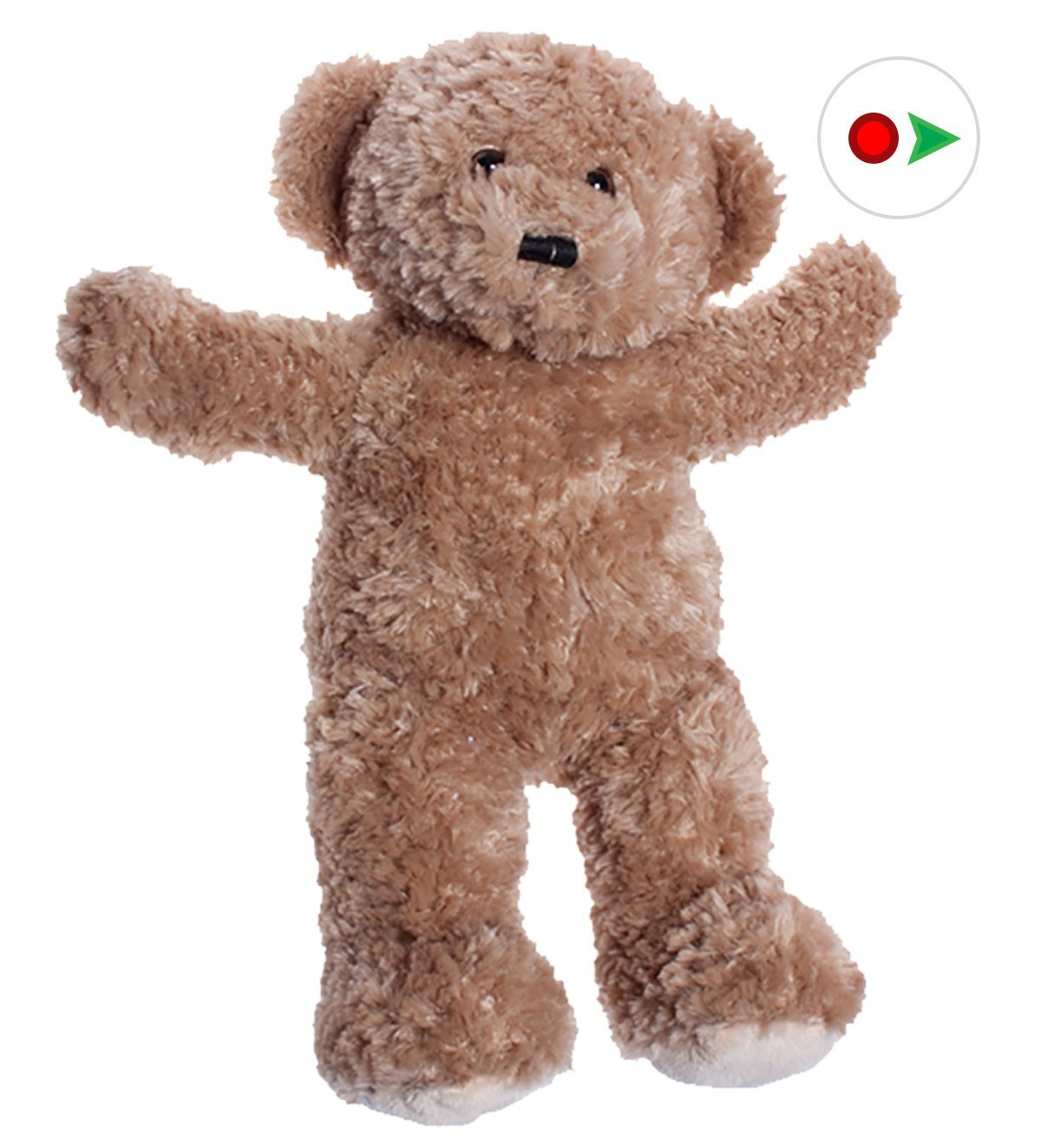 Record Your Own Plush 16 inch Chenille Brown Bear - Ready To Love In A Few Easy Steps