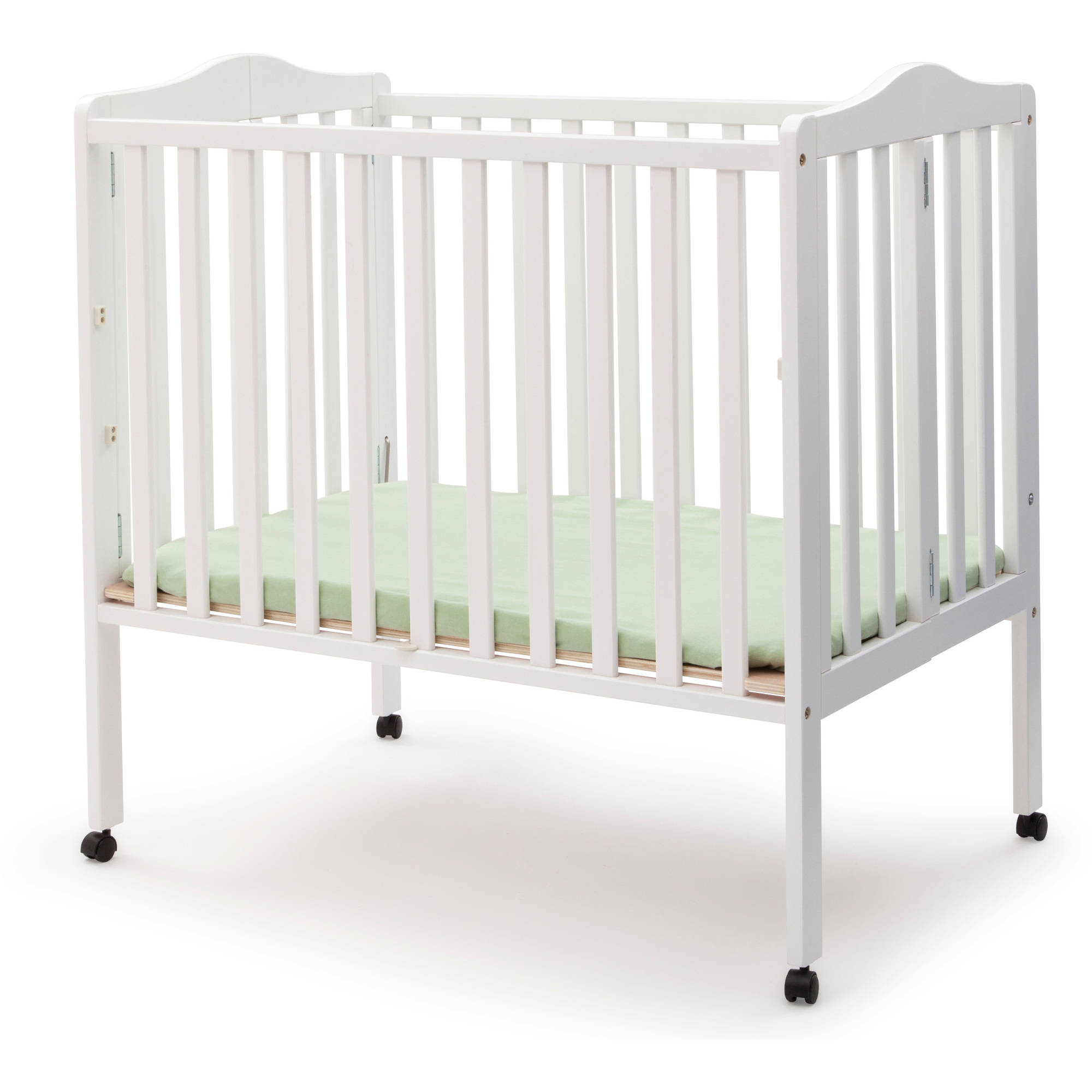 f878a880539 Delta Children Folding Portable Crib with Mattress - Walmart.com