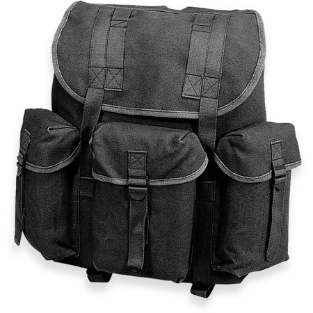 Stansport Cotton G.I. Rucksack, Black