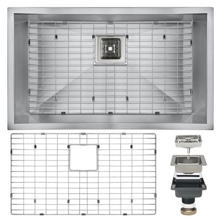 "Image of AKDY 30"" x 18"" x 9"" Under Mount Single Bowl Stainless Kitchen Sink Drain Dish Grid"